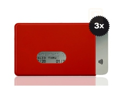 RFID / NFC 3x Schutzh�lle Fred Red