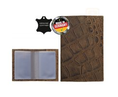 RFID EC-/Bank-/Kredit-Kartenetui Jan Exlusive Croco Brown